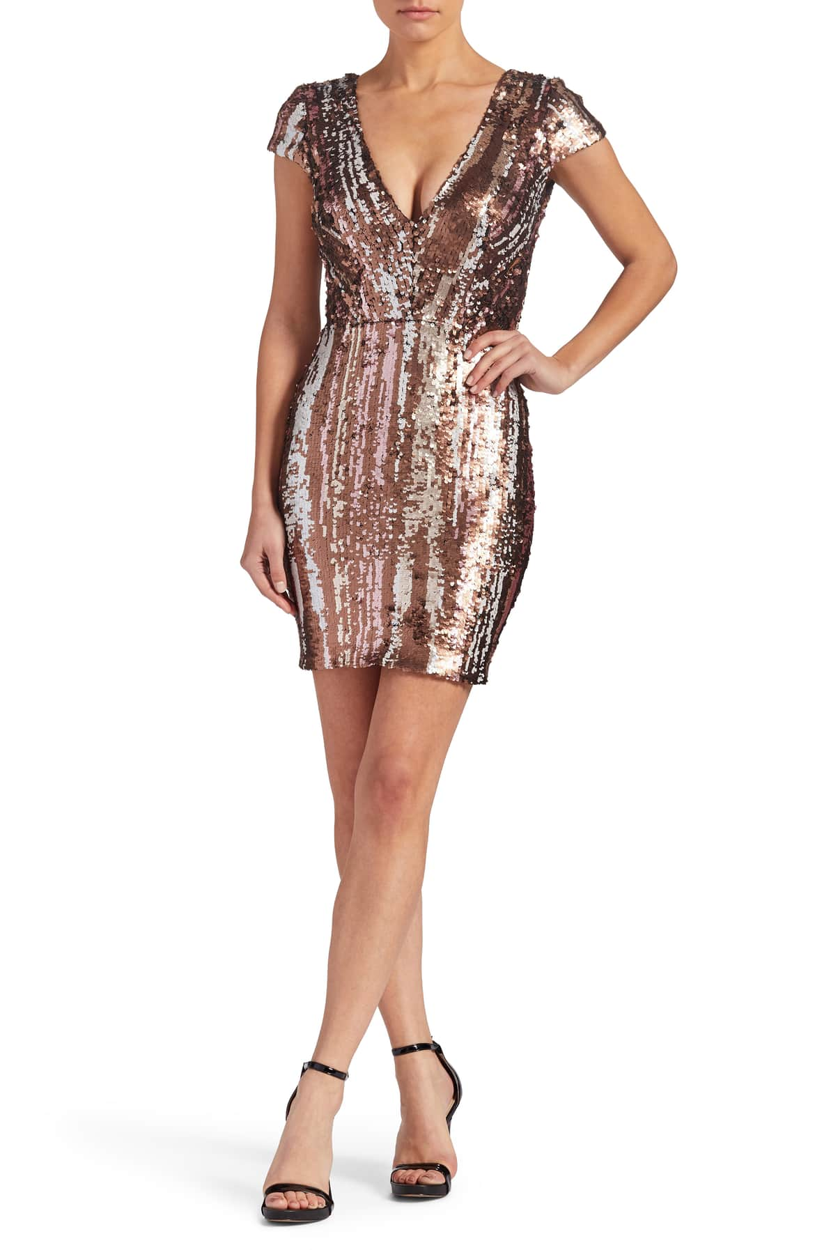 Release your inner vixen by wearing this striking and attractive sequins dress.   Be glam and be the sparkle of his eye!